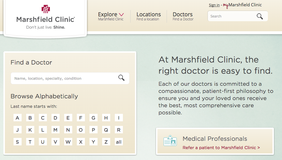 After UI improvements to the doctors search landing page